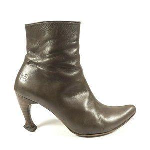 John Fluevog Pointed Toe Heel Booties